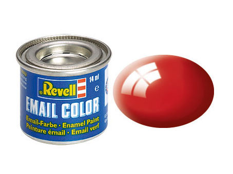 Email Color, Fiery Red, Gloss, 14ml, RAL 3000